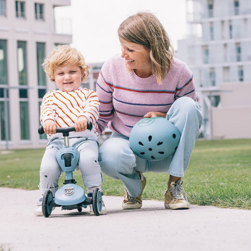 Scoot and Ride Helmet with LED Light XS/S - Steel - All Mamas Children