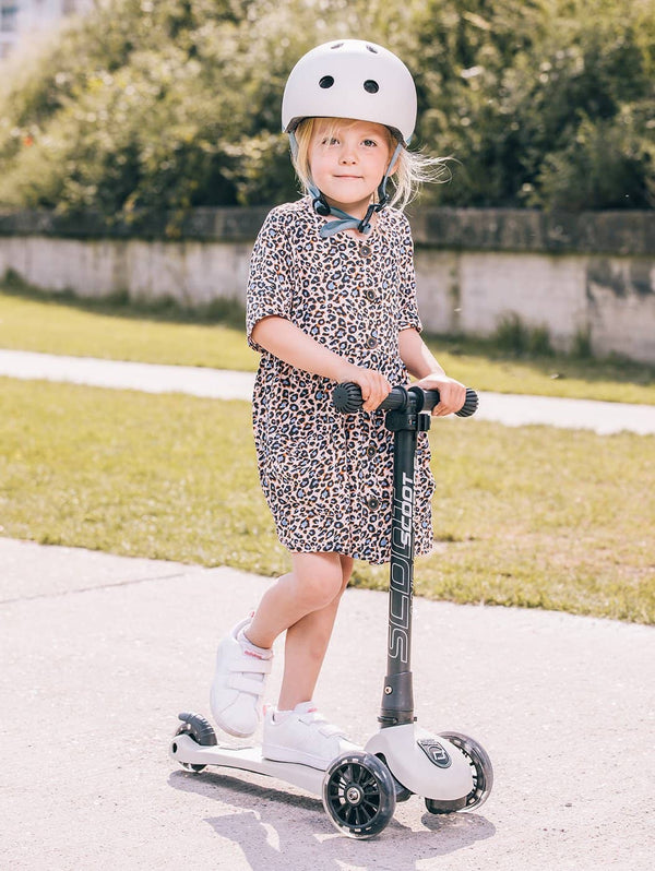 Scoot and Ride Helmet with LED Light S/M (3-5 years) - Ash, Helmet, Scoot and Ride - All Mamas Children