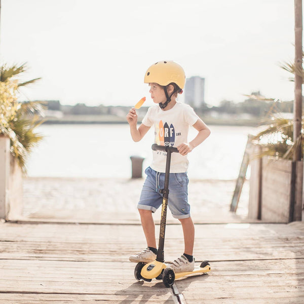 Scoot and Ride Helmet with LED Light S/M (3-5 years) - Lemon, Helmet, Scoot and Ride - All Mamas Children
