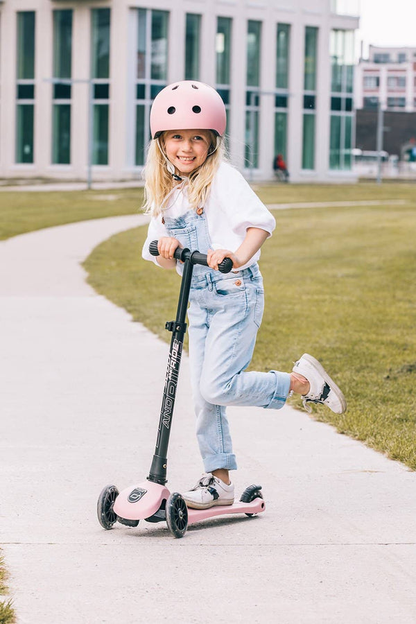 Scoot and Ride Helmet with LED Light S/M (3-5 years) - Rose, Helmet, Scoot and Ride - All Mamas Children