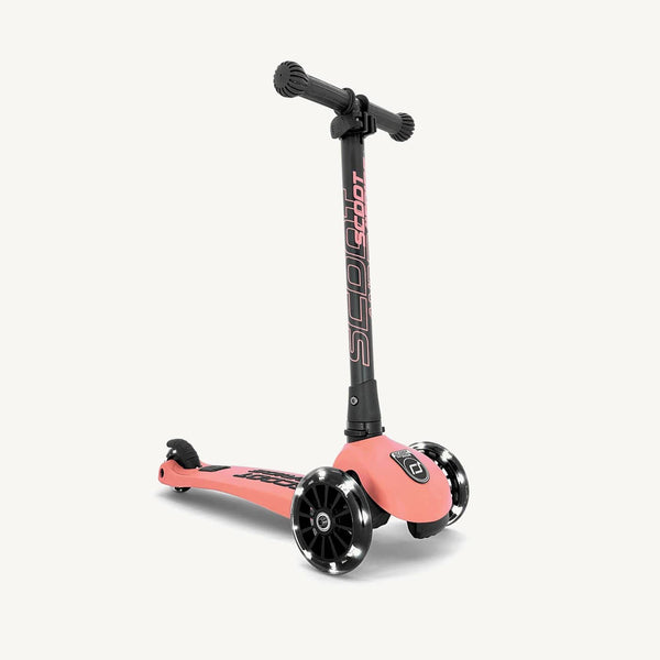 Scoot and Ride Scooter - Highwaykick 3 LED in Peach - All Mamas Children