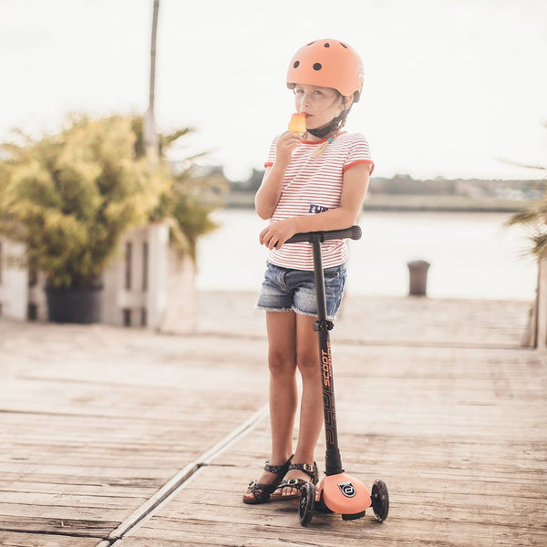 Scoot and Ride Helmet with LED Light S/M (3-5 years) - Peach, Helmet, Scoot and Ride - All Mamas Children