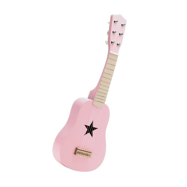 Star Light Pink Wooden Toy Guitar, Toy Instruments, Kids Concept - All Mamas Children