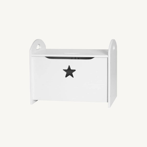 Star White Wooden Storage / Toy Chest, Storage Box, Kids Concept - All Mamas Children