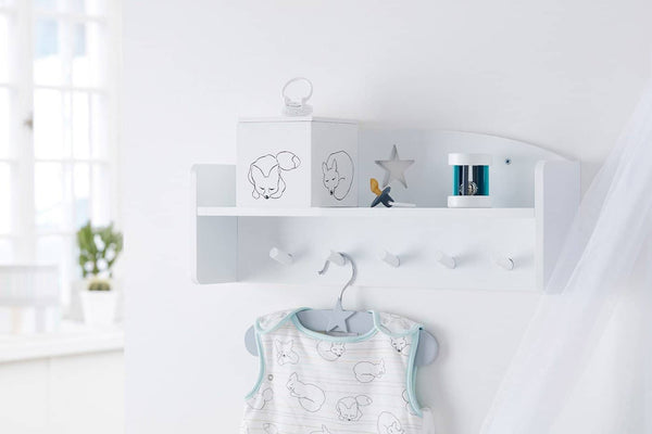 Kid's Concept - Star White Wooden Wall Shelf With Pegs, Shelf, Kids Concept - All Mamas Children