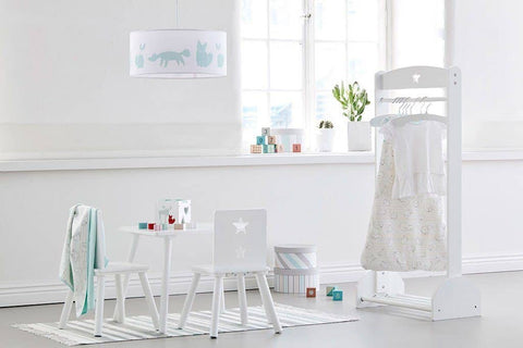 Star White Child's Clothing Rail And Shoe Rack, Clothing Rail, Kids Concept - All Mamas Children