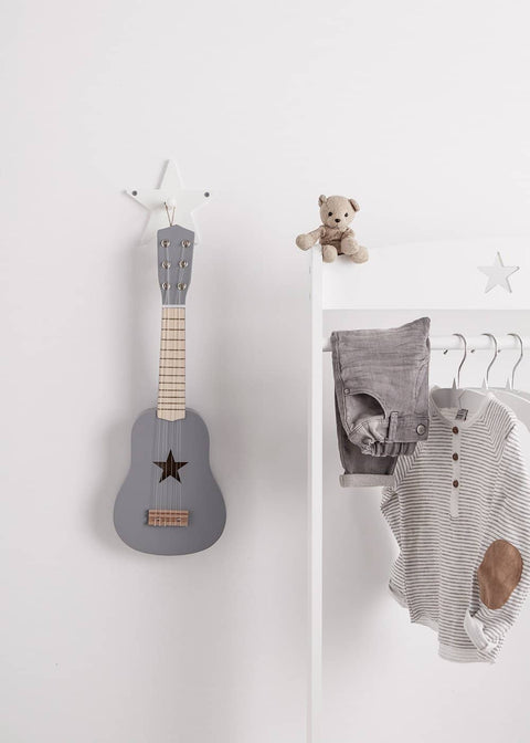 Star White Single Wooden Clothes Hook, Clothes Hooks, Kids Concept - All Mamas Children