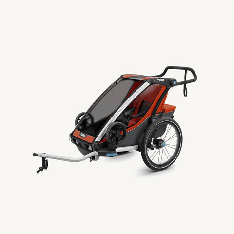 Thule Chariot Cross 1 Multi Sport Carrier including Bicycle Trailer Kit and Strolling kit - Roarange / Dark Shadow, Multisport and bike trailer, Thule - All Mamas Children