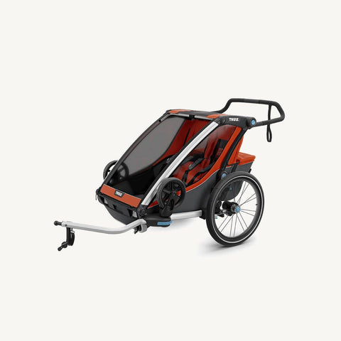 Thule Chariot Cross 2 Multi Sport Carrier with Bicycle Trailer Kit and Strolling kit, Multisport and bike trailer, Thule - All Mamas Children