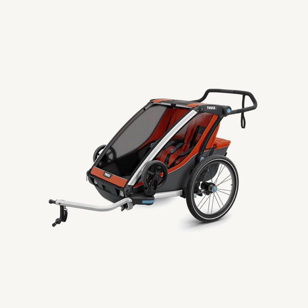 Thule Chariot Cross 2 Multi Sport Carrier with Bicycle Trailer Kit and Strolling kit 2019 model - Roarange / Dark Shadow, Multisport and bike trailer, Thule - All Mamas Children