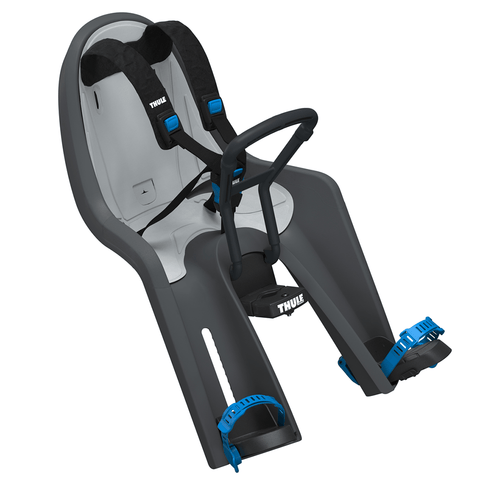 Thule's RideAlong Mini is the ingenious bike seat that allows your child to sit up front with you and enjoy the ride as if they were in the driving seat themselves.