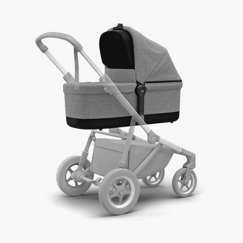 Thule Sleek Bassinet + Rain Cover in Grey Melange, Stroller, Thule - All Mamas Children