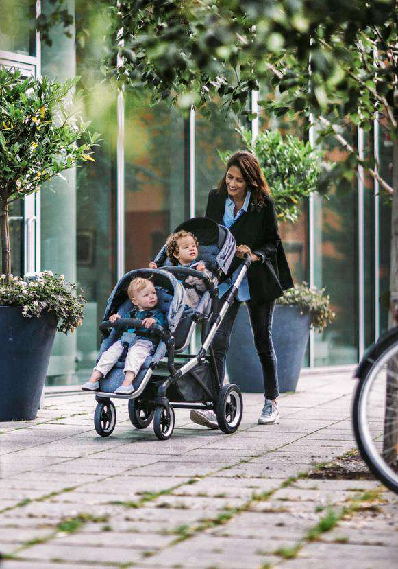 Thule Sleek Stroller + Rain Cover  in Midnight Black, Stroller, Thule - All Mamas Children