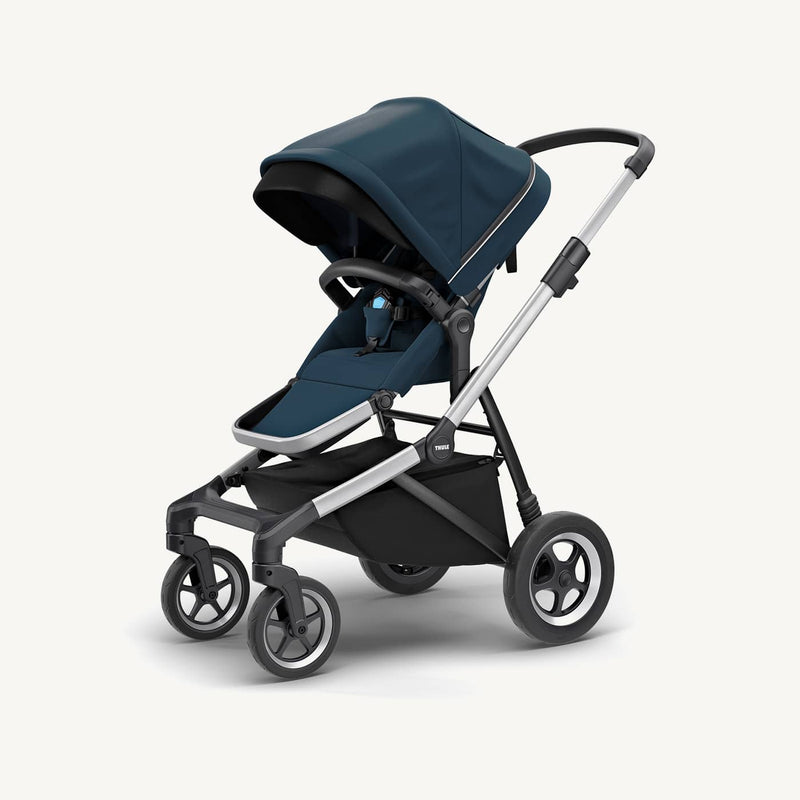 Thule Sleek Stroller + Rain Cover  in Navy Blue, Stroller, Thule - All Mamas Children