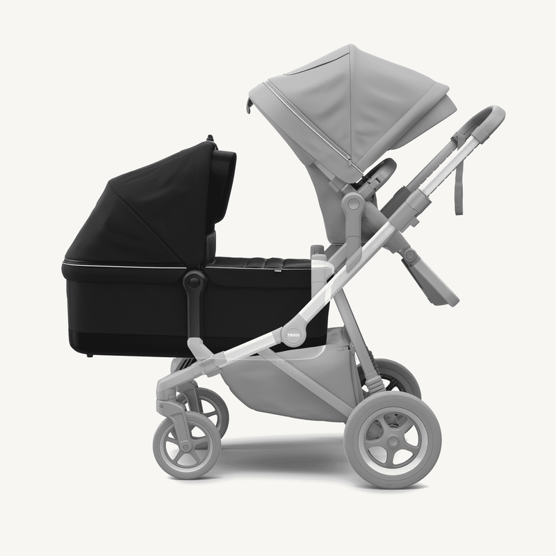 Thule Sleek Stroller and Bassinet + Rain Covers  in Midnight Black, Stroller, Thule - All Mamas Children