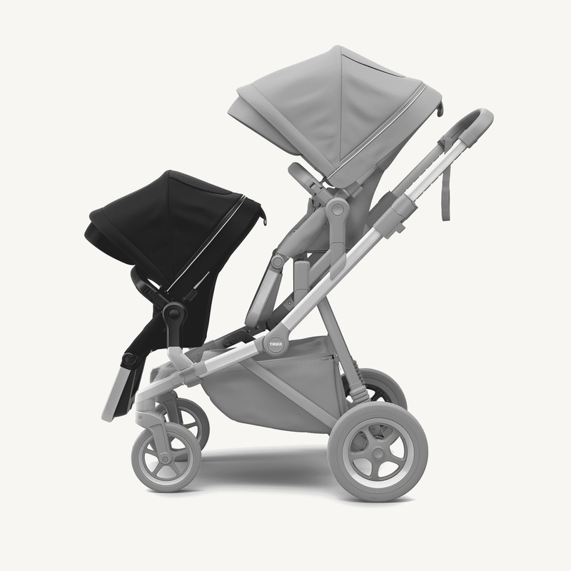 Thule Sleek Sibling Seat + Rain Cover  in Midnight Black, Stroller, Thule - All Mamas Children