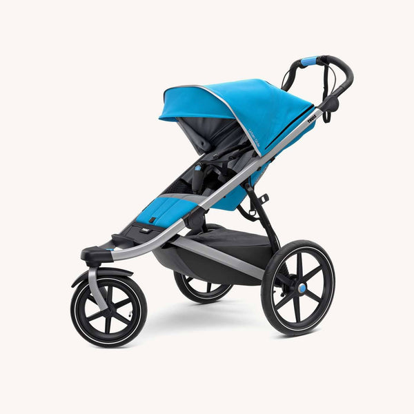 Thule Urban Glide 2 Jogging & Sports Stroller in Thule Blue 2018 model - With Rain Cover, Jogging Stroller, Thule - All Mamas Children