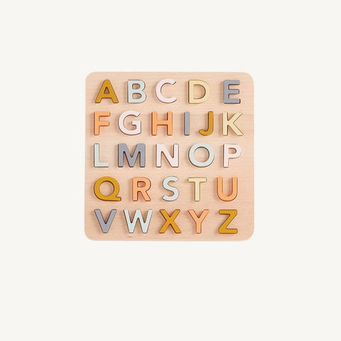 Wooden Alphabet Puzzle, Puzzle, Kids Concept - All Mamas Children