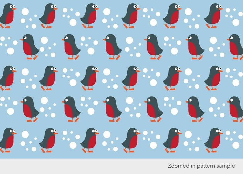 Penguins and Robins Recycled Children's Wrapping Paper & Tags - All Mamas Children