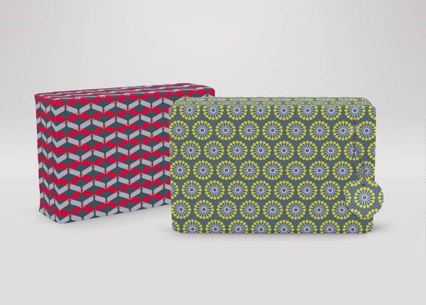 Retro Geometric Bright Pattern Recycled Wrapping Paper & Tags, wrapping paper, The LittleGreen Wrapping Company - All Mamas Children