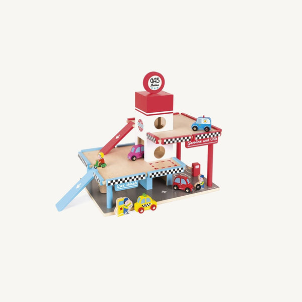 Large Wooden Gas Station Set, Play Set, Janod - All Mamas Children