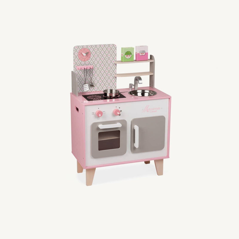 Janod - Macaron Wooden Cooker / Kitchen Set, Kitchen Toys, Janod - All Mamas Children