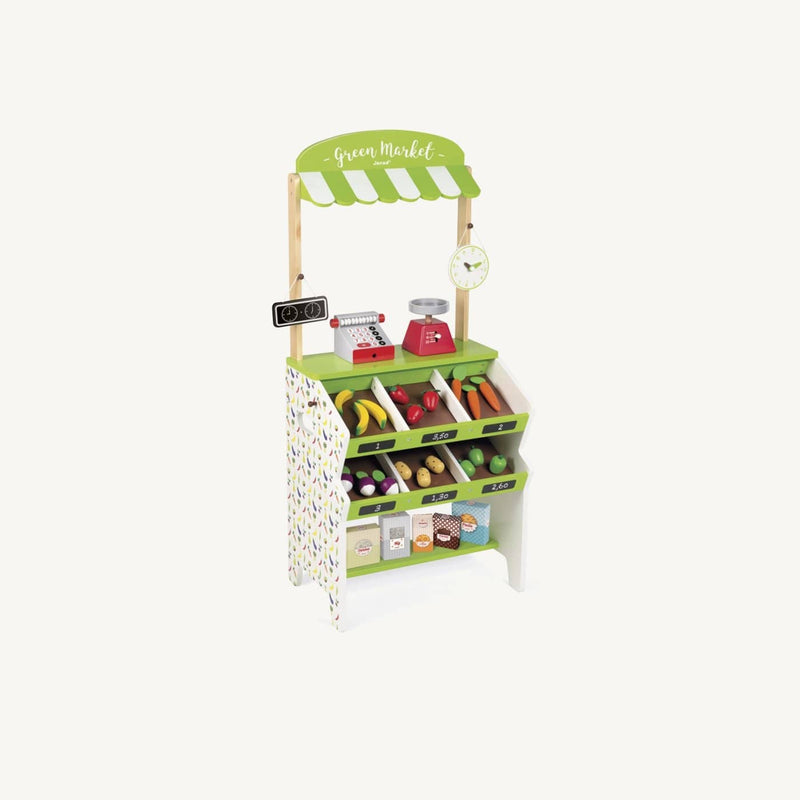 Green Market Grocery Stall, Pretend Play, Janod - All Mamas Children