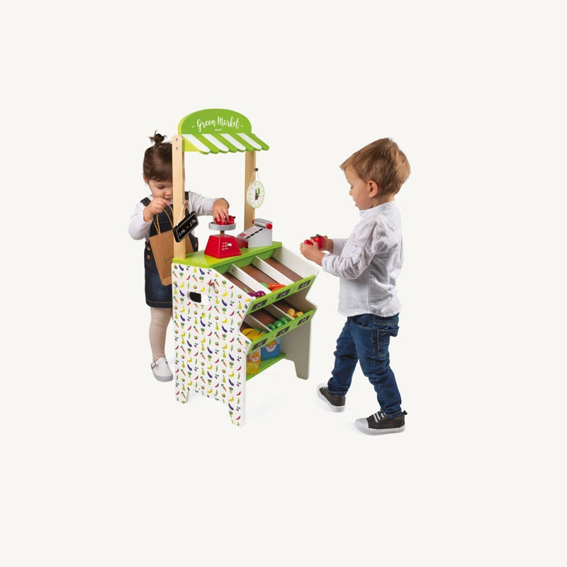 Janod - Green Market Grocery Stall, Pretend Play, Janod - All Mamas Children