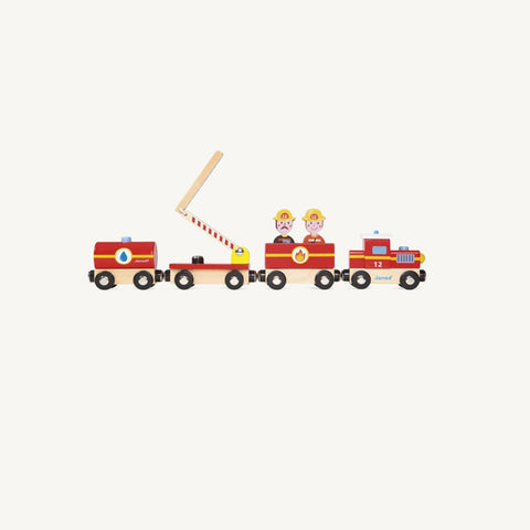 Story Firefighter Train Set, Play Set, Janod - All Mamas Children