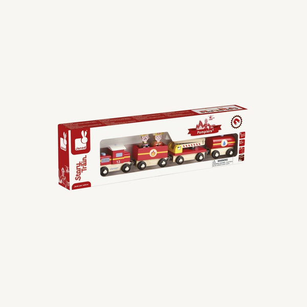 Janod - Story Firefighter Train Set - All Mamas Children