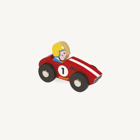 Story Racing Racer Car - Red, Wooden Toys, Janod - All Mamas Children