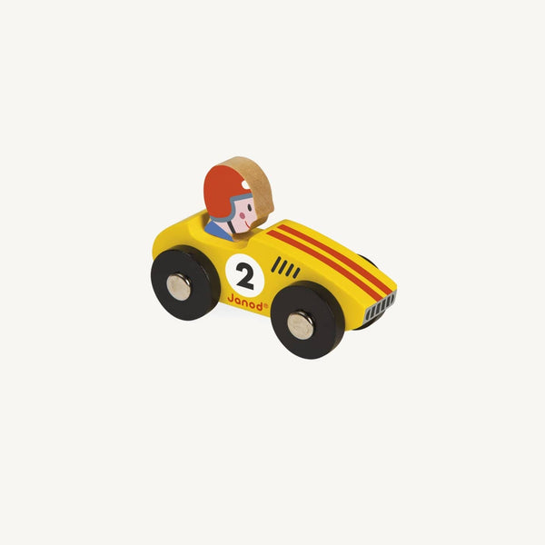 Story Racing Racer Car - Yellow, Car, Janod - All Mamas Children