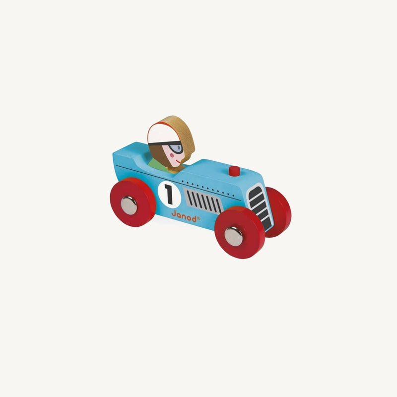 Story Racing Retromotor Car - Blue, Car, Janod - All Mamas Children