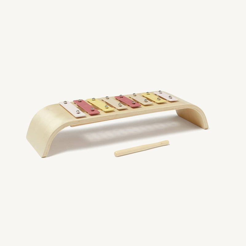 Kid's Concept - Plywood Toy Xylophone in Pink Mix, Toy Instruments, Kids Concept - All Mamas Children