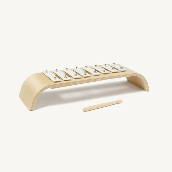 Kid's Concept - Plywood Toy Xylophone in White, Toy Instruments, Kids Concept - All Mamas Children