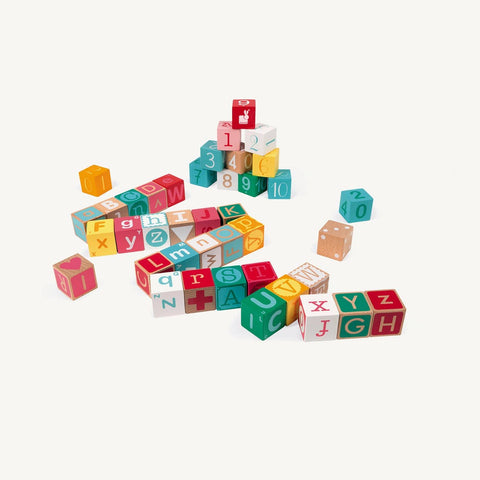 Wooden Letters & Numbers, Kubix 40 Blocks, Blocks, Janod - All Mamas Children