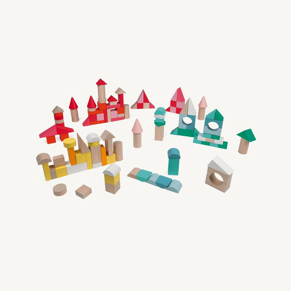 Janod - Wooden Play Blocks - Kubix 120 Pieces - All Mamas Children