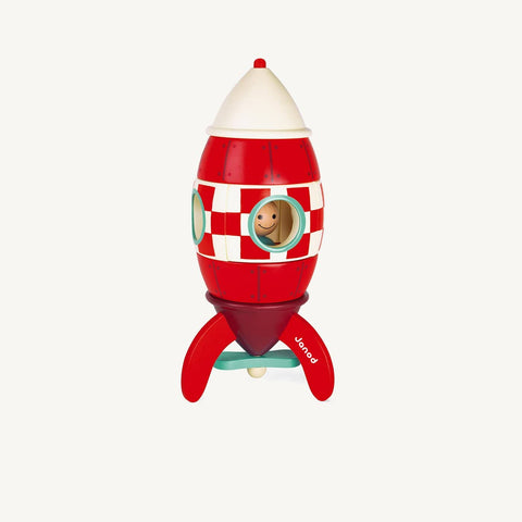 Giant Magnetic Wooden Rocket (32cm), Wooden Toys, Janod - All Mamas Children