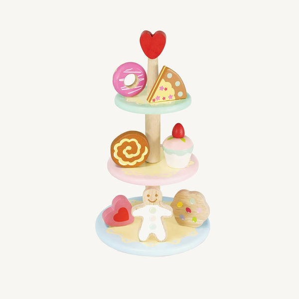 Le Toy Van - Honeybake Three Tier Cake Stand with 7 Cakes, Pretend Play, Le Toy Van - All Mamas Children