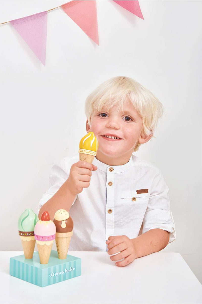 Le Toy Van - Honeybake Wooden Ice Creams, Pretend Play, Le Toy Van - All Mamas Children