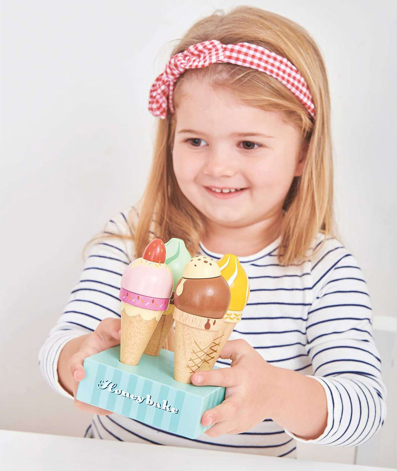 Le Toy Van - Honeybake Wooden Ice Creams - All Mamas Children
