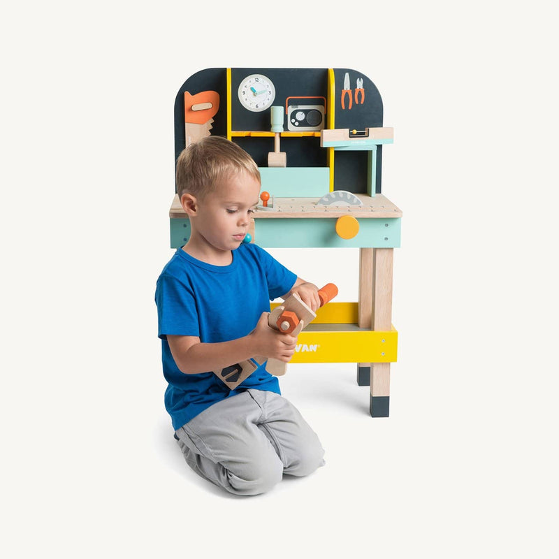 Le Toy Van - Alex's Tool Bench Wooden Play Set, Pretend Play, Le Toy Van - All Mamas Children