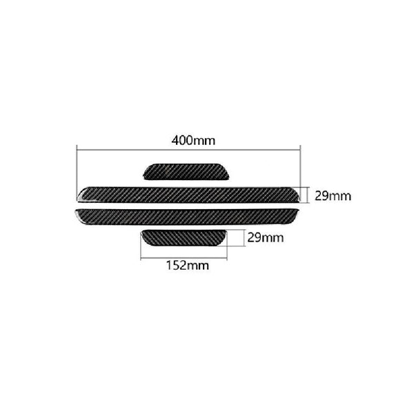 Pinalloy Carbon Fiber Side Door Sill Strip Stickers Accessories For Audi A3 2014-2019 - Pinalloy Online Auto Accessories Lightweight Car Kit