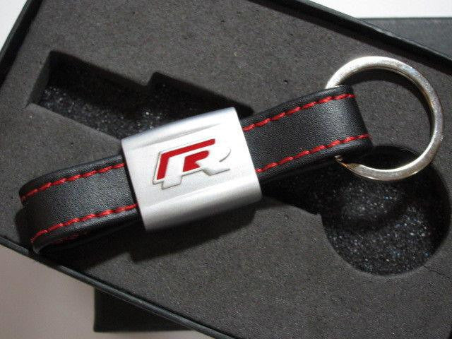 Red VW R LINE Key Ring for VW R LINE VOLKSWAGEN POLO GOLF PASSAT SCIROCCO KY0001 - Pinalloy