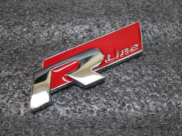 New red 4 R Line Metal Grill Emblem 3D lettering for VW Golf GTI Scirocco Polo - Pinalloy Online Auto Accessories Lightweight Car Kit