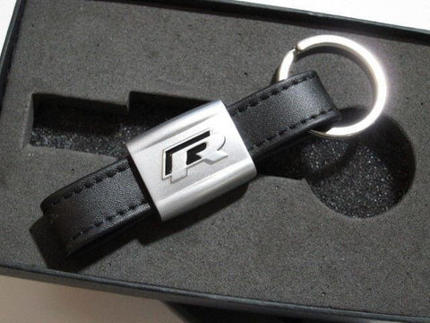 Black VW R LINE Key Ring for VW R LINE VOLKSWAGEN POLO GOLF PASSAT SCIROCCO KY0002