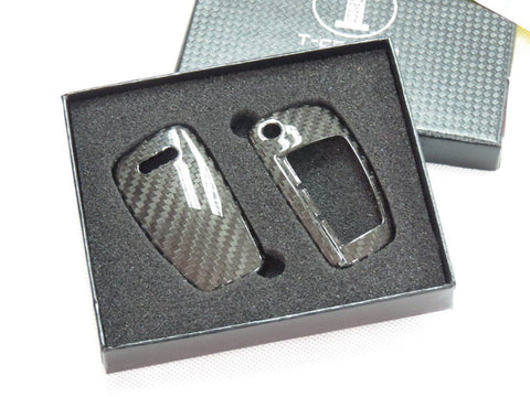 Deluxe Real Carbon Fiber Remote Flip Key Cover Case Skin Shell for Audi A3 A4 TT - Pinalloy
