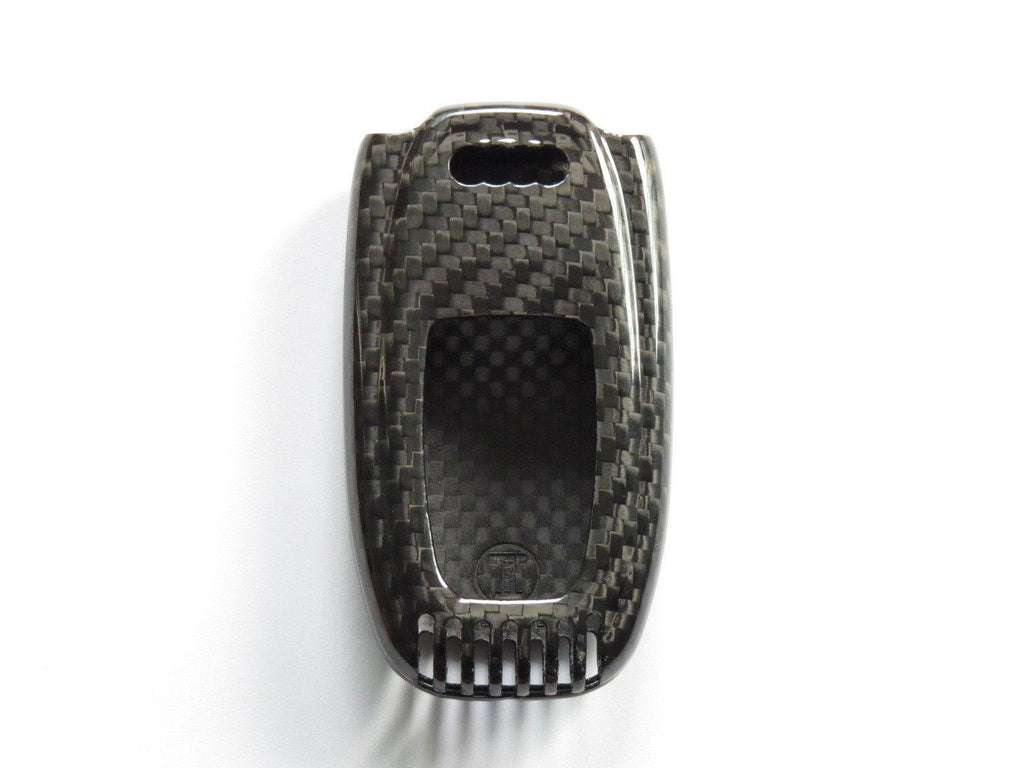 Deluxe Real Carbon Fiber Remote Key Less Key Cover Case Skin Shell For Pinalloy