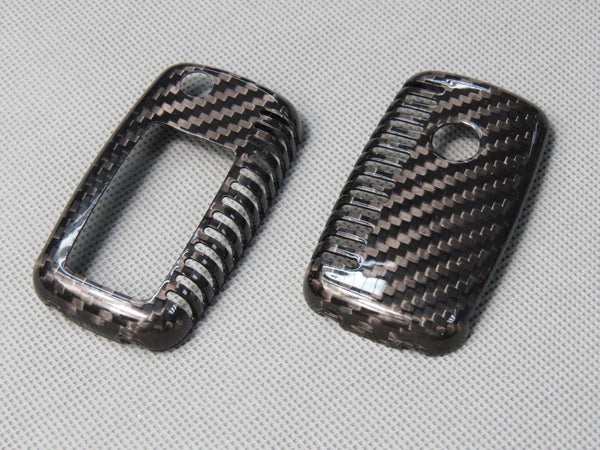 Deluxe Real Carbon Fiber Remote Flip Key Cover Case Skin
