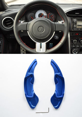 Pinalloy Blue Alloy Steering Wheel Paddle Shifter Extension for GT86 FRS BRZ - Pinalloy